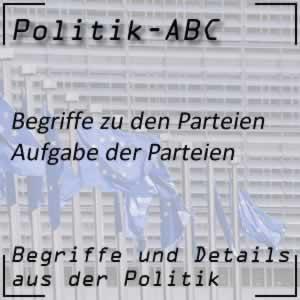 Parteien in der Politik
