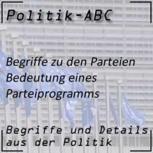 Parteiprogramm der politischen Parteien