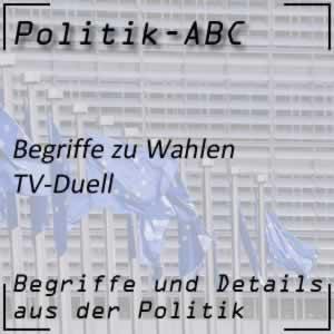 TV-Duell im Wahlkampf