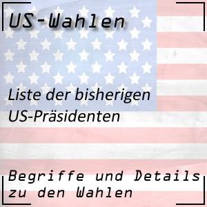 Liste der US-Präsidenten