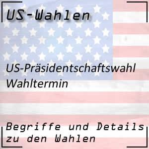 Wahltermin der US-Wahlen
