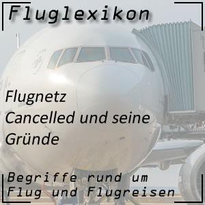 Cancelled bei Flüge