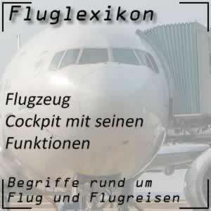 Fluglexikon Flugzeug Cockpit
