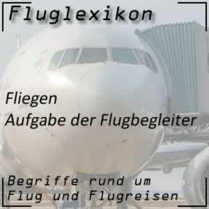 Fluglexikon Fluglinien Flugbegleiter