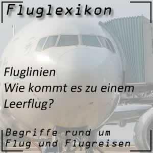 Fluglexikon Fluglinien Leerflug