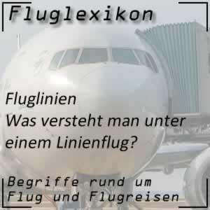 Fluglexikon Fluglinien Linienflug