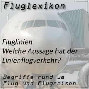 Fluglexikon Fluglinien Linienflugverkehr