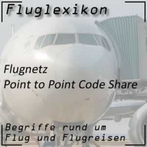 Fluglexikon Flugnetz Point to Point Code Share