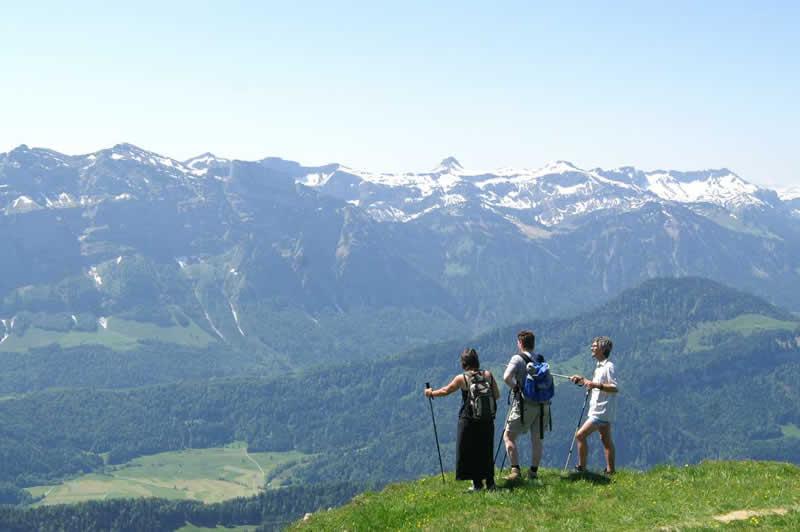 Alpgeschichtlichter Lehrweg bei Andelsbuch Vorarlberg