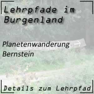 Lehrpfad Bernstein Planetenwanderung