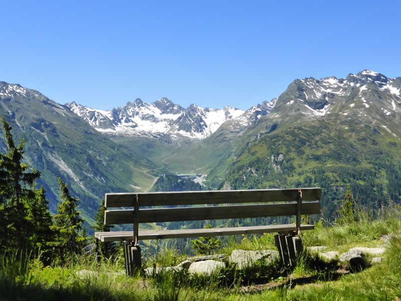Landschaftspfad bei Gaschurn Vorarlberg