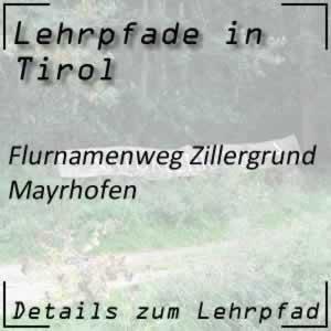 Mayrhofen Flurnamenweg