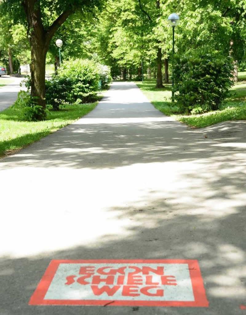 Lehrpfad Egon-Schiele-Weg in Tulln