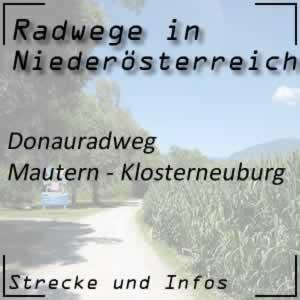 Donauradweg: Mautern - Klosterneuburg