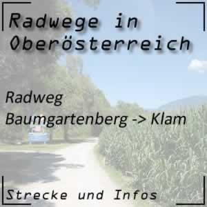 Radweg von Baumgartenberg bis Klam