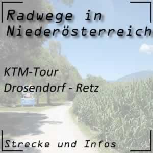Radweg KTM-Tour Drosendorf - Retz