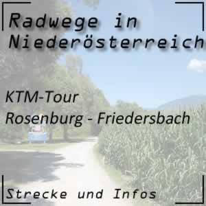 Radweg KTM-Tour Rosenburg - Friedersbach