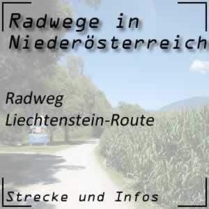 Radweg Liechtenstein-Route im Weinviertel