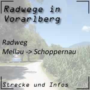 Radweg von Mellau nach Schoppernau