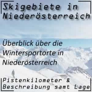 Skigebiete Niederösterreich