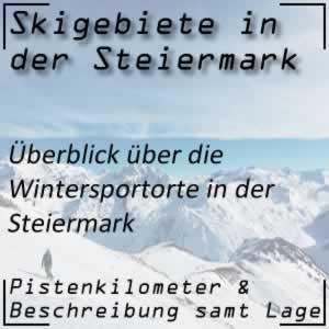 Skigebiete Steiermark