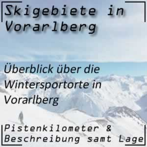 Skigebiete in Vorarlberg