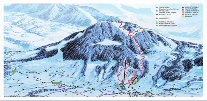 Skigebiet Alberschwende Pistenplan