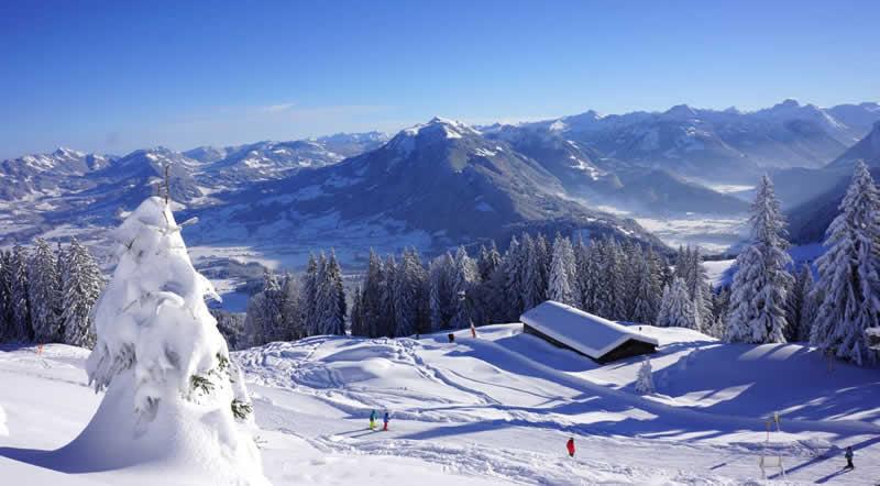Skigebiet Bödele Schwarzenberg in Vorarlberg