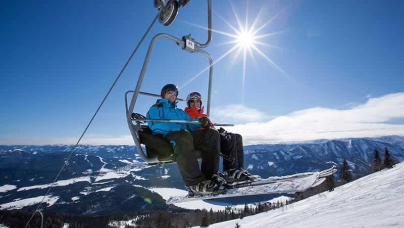 Skigebiet Gemeindealpe bei Mitterbach Niederösterreich