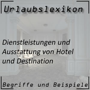 Dienstleistungen im Hotel und Feriendorf
