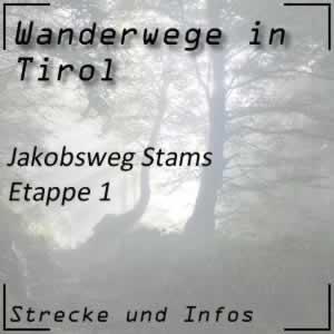 Jakobsweg Stams Etappe 1 von Stams nach Nassereith