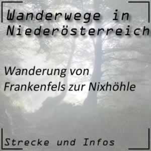 Wanderung von Frankenfels zur Nixhöhle