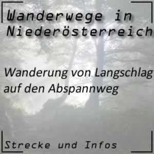 Langschlag - Abspannweg Wanderweg