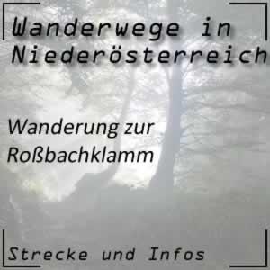 Roßbachklamm Wanderung