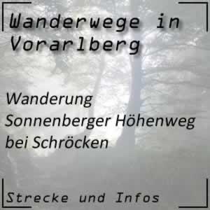 Wanderung Sonnenberger Höhenweg bei Schröcken
