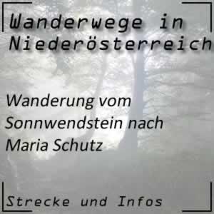 Wanderung vom Sonnwendstein nach Maria Schutz