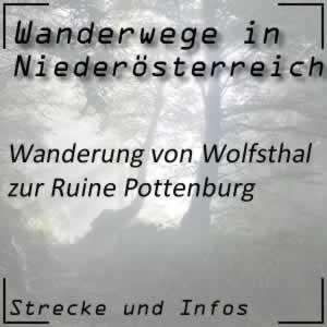 Wanderung von Wolfsthal zur Ruine Pottenburg