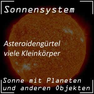 Asteroidengürtel im Sonnensystem