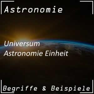 Astronomische Einheit im Universum