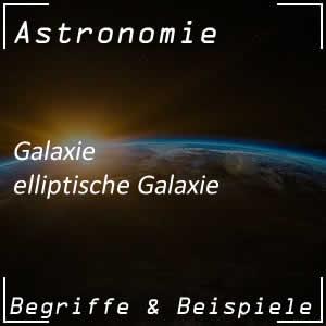 Galaxie in elliptischer Form