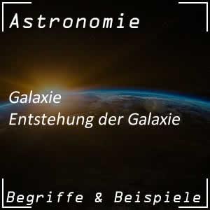 Entstehung einer Galaxie