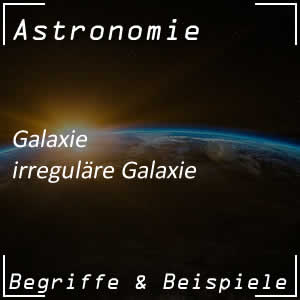 Irreguläre Galaxie im Universum