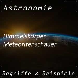 Meteoritenschauer im Weltall