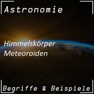 Meteoroiden im Weltall