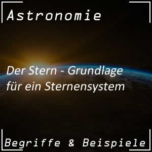 Stern im Universum