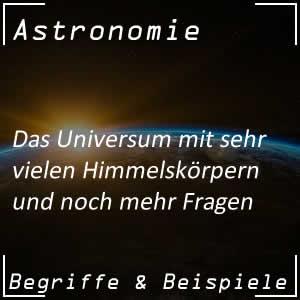 Universum und seine Erforschung