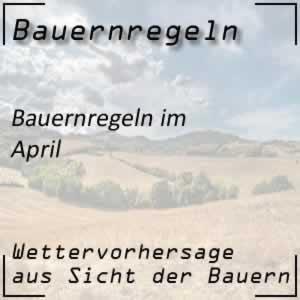 Bauernregeln April