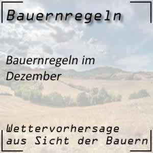Bauernregeln Dezember