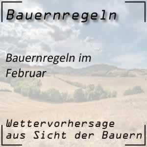 Bauernregeln im Februar