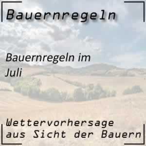 Bauernregeln Juli